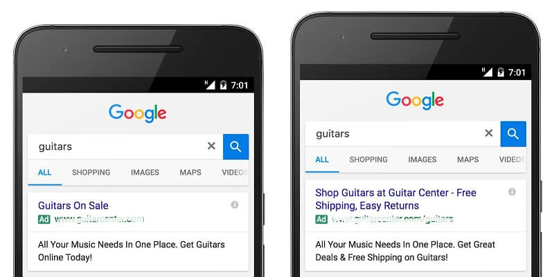 Google Expanded Text Ads